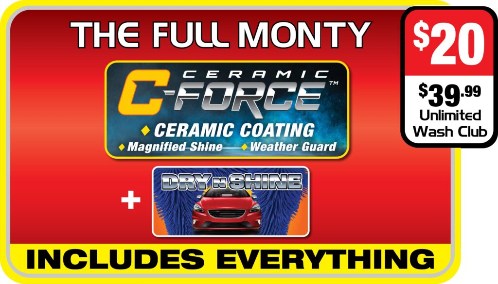 List of features of Splash and Dash Car Wash Package - The Full Monty
